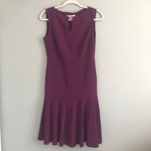 Joseph Ribkoff Purple Sleeveless Fit & Flare Dress